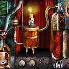 Steampunk - Coffee Break by Mike  Savad