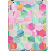 Pretty Pastel Hexagon Pattern in Oil Paint iPad Case/Skin