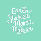 Earth Shaker Mover Maker in Aqua by joyfulroots