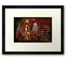"""""""When a Child is Born ..."""" Framed Print"""