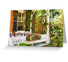Houses - Victorian - Come stay with us  Greeting Card