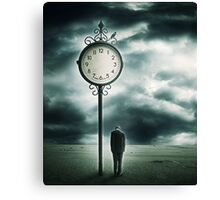And when the Clock stops.. Canvas Print
