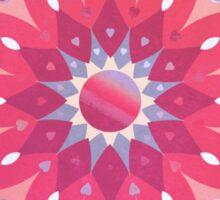 Tropical Pink Floral Mandala Sticker