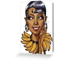 Josephine Baker La Perla Noire Greeting Card