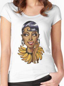 Josephine Baker La Perla Noire Women's Fitted Scoop T-Shirt