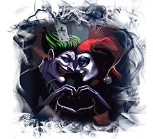 Harley Quinn & Joker mad love  Photographic Print