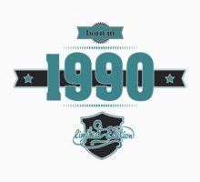 Born in 1990 (Blue&Darkgrey) Kids Tee