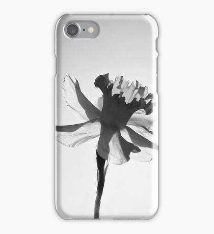 Narcissus | Daffodil Flower in Black and White iPhone Case/Skin