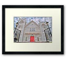 HDR - SMLC - The White Church Framed Print