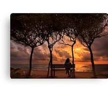 Sunset at the beach of Zacharo - Peloponnese Canvas Print