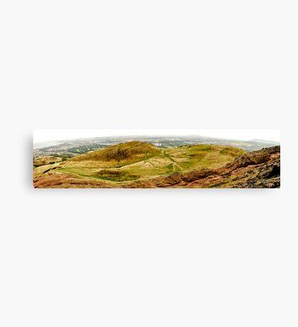 Arthurs Seat Panoramic - Edinburgh - Scotland Canvas Print