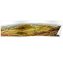 Arthurs Seat Panoramic - Edinburgh - Scotland Poster