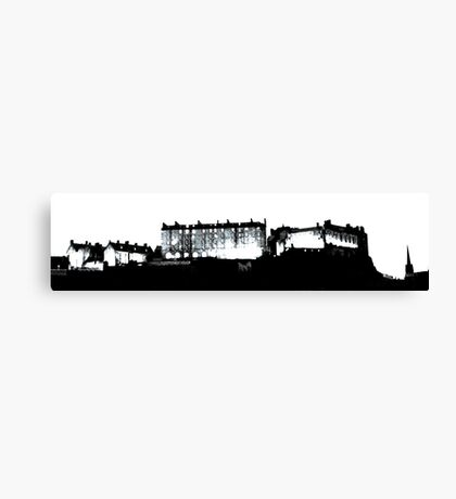 Darkness falls upon a medieval place - Edinburgh  Canvas Print