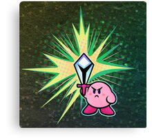 Kirby Sword Canvas Print