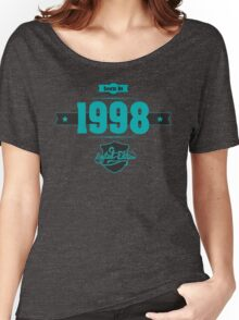Born in 1998 (Blue&Darkgrey) Women's Relaxed Fit T-Shirt