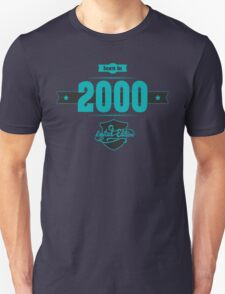 Born in 2000 (Blue&Darkgrey) Unisex T-Shirt