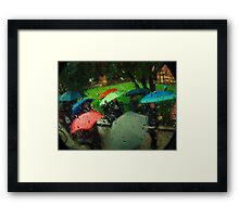 Umbrellas Of Verona Framed Print