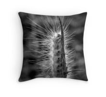 Wooly Bear Silhouette B/W Throw Pillow