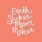 Earth Shaker Mover Maker in Peach by joyfulroots