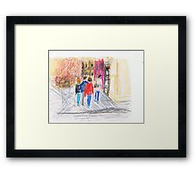 Downtown Framed Print