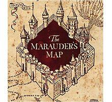 marauders map Harry Potter Photographic Print