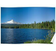 Mt Hood and Trillium Lake Poster