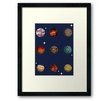 Planet Pixel Framed Print