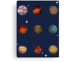 Planet Pixel Canvas Print