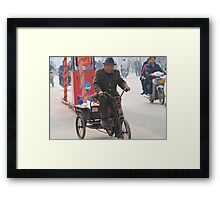 Ping Yao - Cabbage man. Framed Print