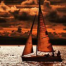 Red Sails in the Sunset by Clive