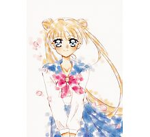 Sailor moon Water Color  Photographic Print
