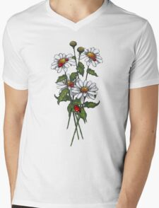 Daisies and Ladybugs, Floral, Wildlife, Illustration T-Shirt