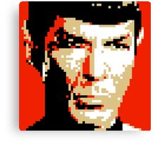 Pixel-ated 8-bit Star Trek Spock Canvas Print