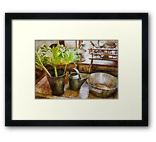 Kitchen - Eat your greens Framed Print