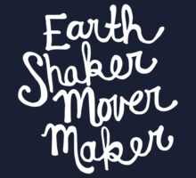 Earth Shaker Mover Maker in Navy Kids Tee