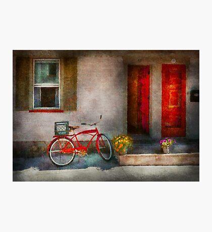 Bike - Welcome, doors open  Photographic Print