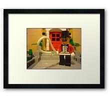 Ring Master in his Garden Framed Print