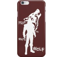 Witcher - Fear The White Wolf iPhone Case/Skin