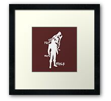 Witcher - Fear The White Wolf Framed Print