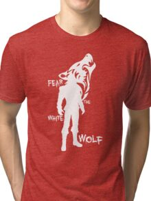 Witcher - Fear The White Wolf Tri-blend T-Shirt