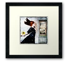 Cold winds are blowing... Framed Print