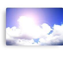 Clear Sky with Lensflare  Canvas Print
