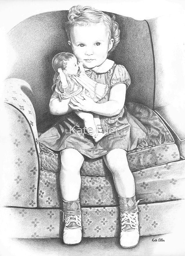 "Little Girl from the '30""s by Kate Eller"