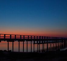 Jetty after sunset by Lois Romer
