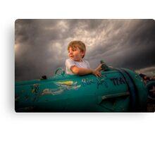 Toddler Top Gun Canvas Print