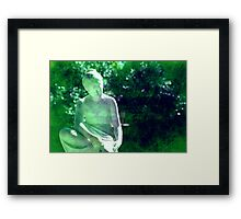 Waiting in the park Framed Print