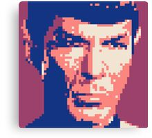 Pixel-ated 8-bit Star Trek Spock Purple/Blue Canvas Print