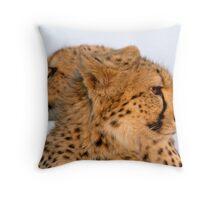 Two Headed Cheetah? Throw Pillow