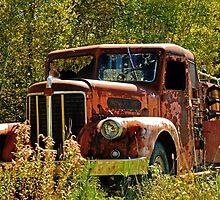 Rusty Fire Truck by Alana Ranney
