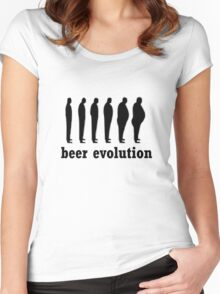beer evolution Women's Fitted Scoop T-Shirt
